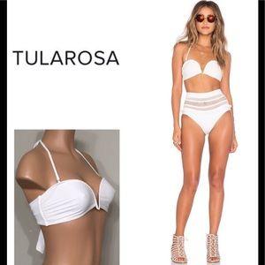 Tularosa ivory Thessy bikini top. NWT